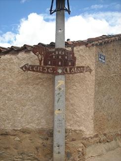 señal para elegir Camino en Granja de Moreruela
