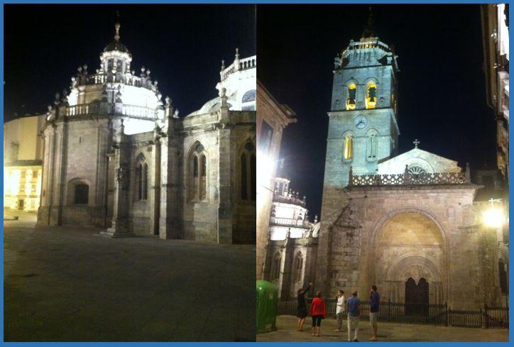 Catedral de Lugo por la noche