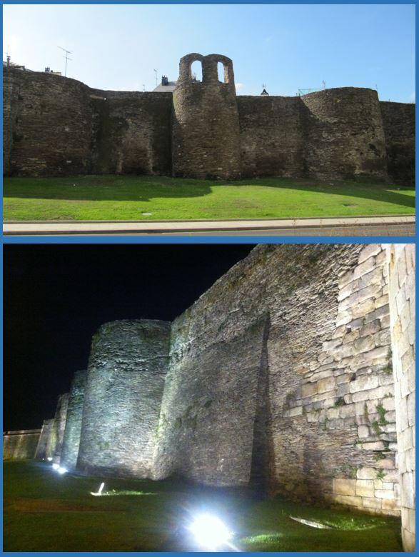 Exterior Muralla Romana de Lugo - Noche y Día